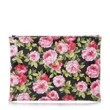 Dune Beaut floral print clutch bag