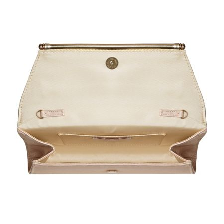 Head Over Heels Ballery metallic clutch bag