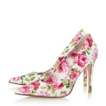 Dune Bloom peony print court shoes