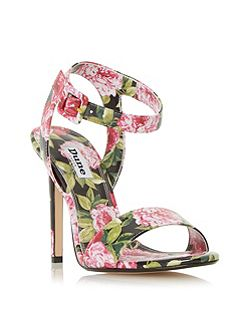 Meadoww peony print high heel sandals