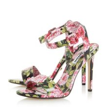 Dune Meadoww peony print high heel sandals
