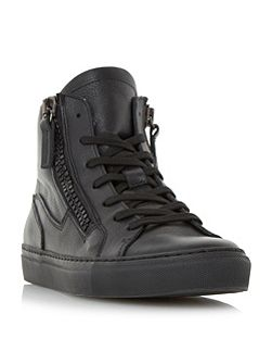 Snoop double zip high top trainers