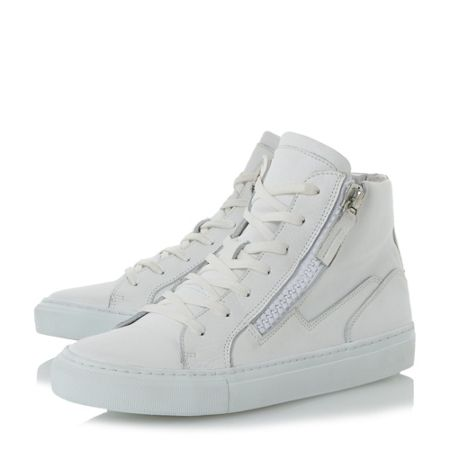 Dune Snoop double zip high top trainers