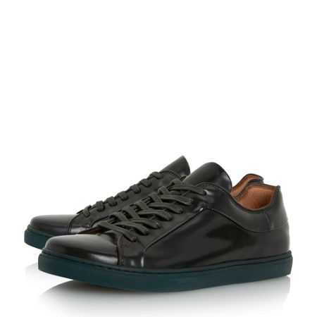 Dune Tyrese high shine cupsole trainers