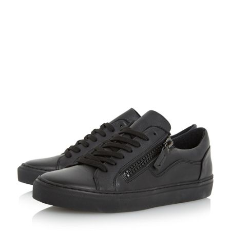 Dune Trey double zip cupsole trainers