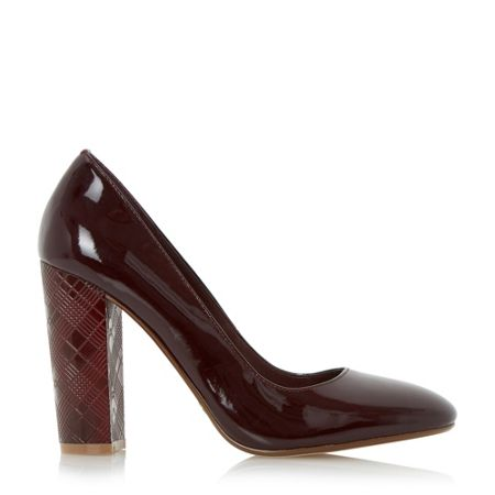 Dune Anniston etched heel court shoes