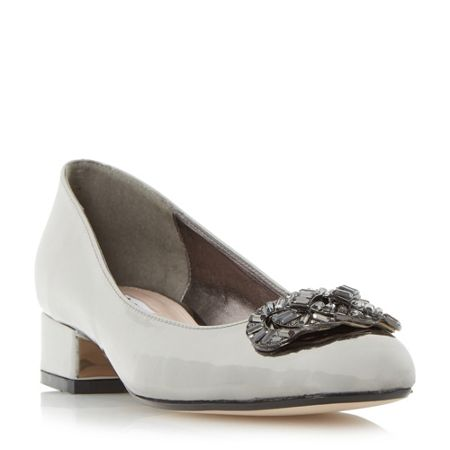 Dune Beebie jewel trim court shoes