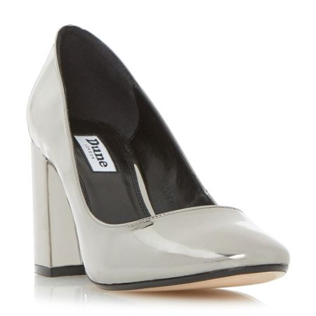 Dune Acapela block heel court shoes
