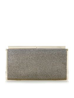Brixxton patent hard case clutch bag
