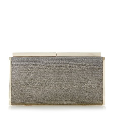 Dune Brixxton patent hard case clutch bag