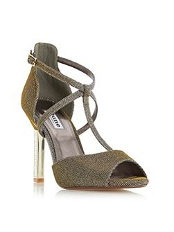 Melodee jewelled heel peep toe sandals