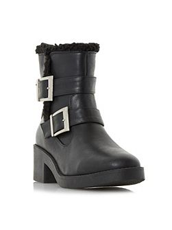 Panya buckle shearling lined ankle boots