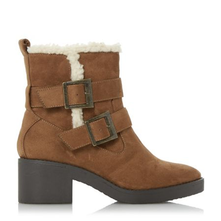 Head Over Heels Panya buckle shearling lined ankle boots