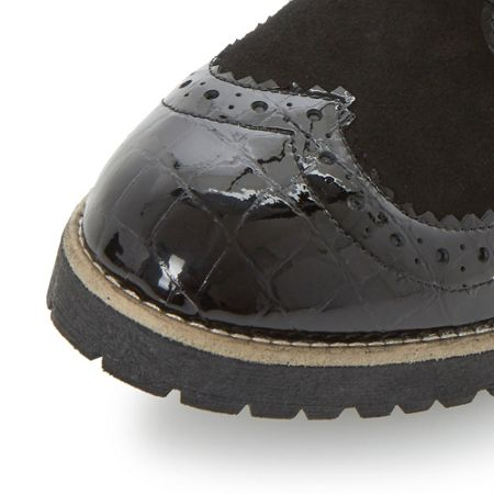 Dune Faune cleat sole lace up brogues