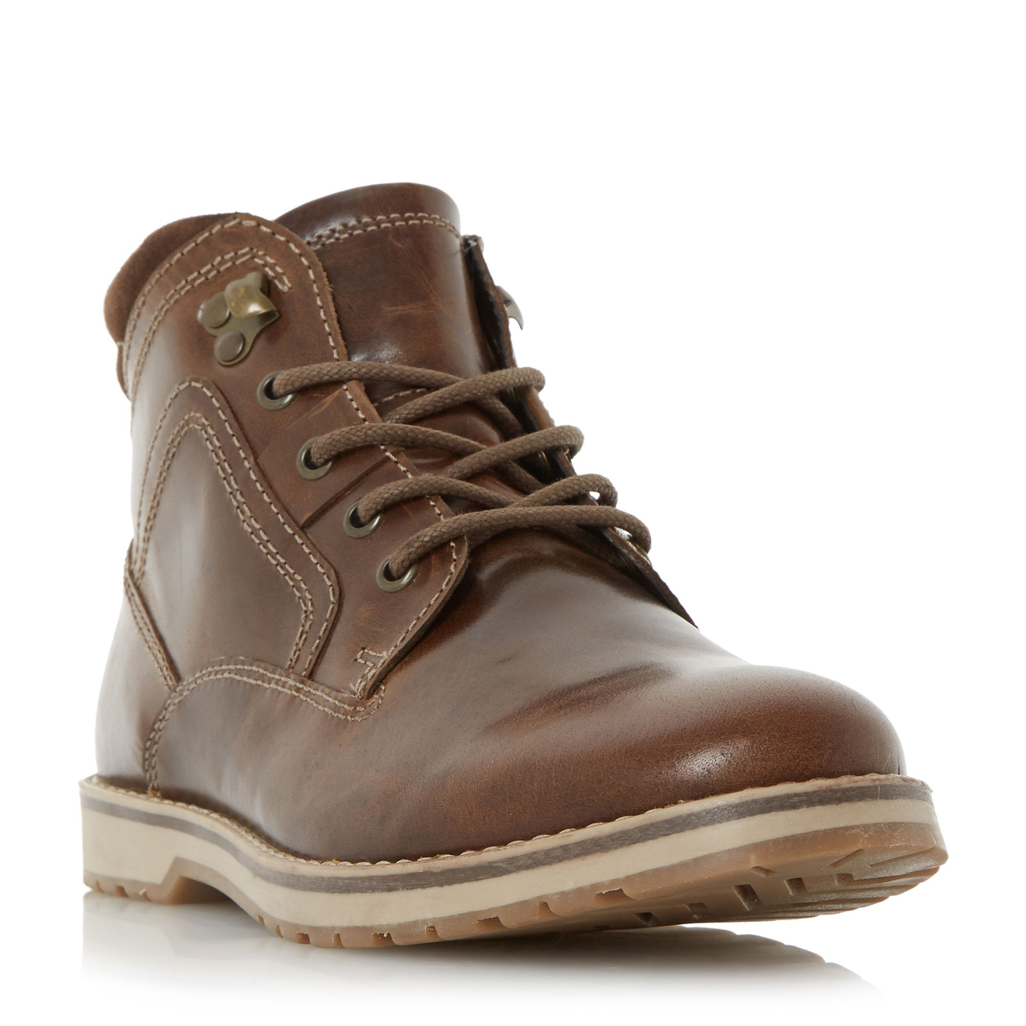 Howick Caribou ski hook lace up boots Brown