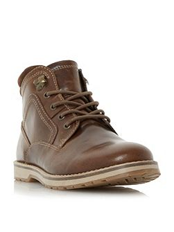 Caribou ski hook lace up boots