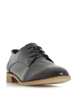 Faris suede textured derby shoes