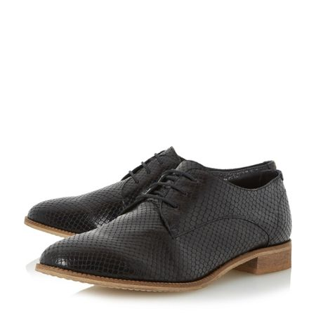 Dune Faris suede textured derby shoes