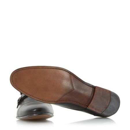 Howick Rumwell detail double strap monk shoes