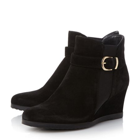 Linea Comfort Ordlie trim wedge ankle boots