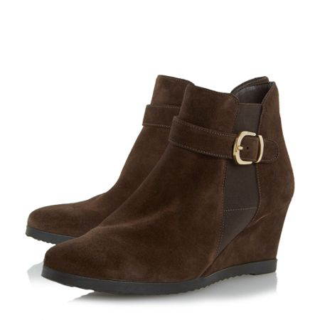 linea comfort ordlie trim wedge ankle boots house of