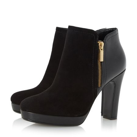 Dune Oscar side zip ankle boots