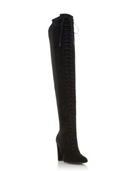 Dune Scarlett lace up over the knee boots