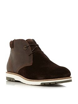 Heppel mixed material chukka boot