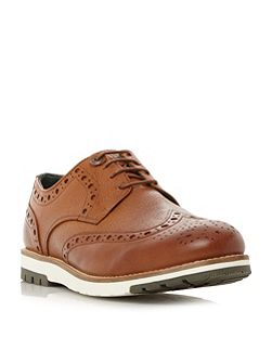 Palmer contrast leather brogue shoes