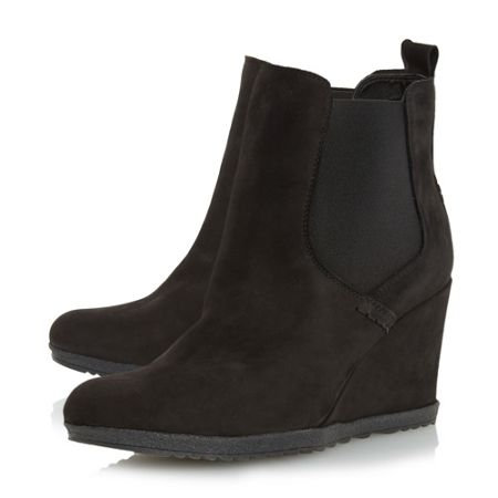 Dune Phillipe elasticated wedge low boots