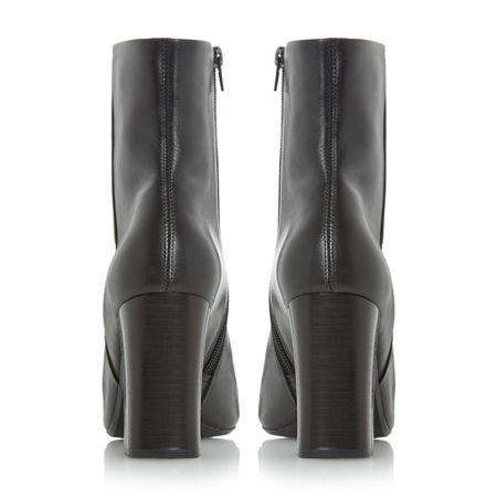 Dune Osmond flared heel ankle boots
