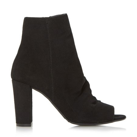 Dune Odelle peep toe ankle boots