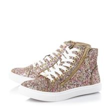 Steve Madden Earnst-g glitter high top trainers