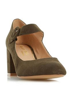 Arletta block heel mary jane court shoes