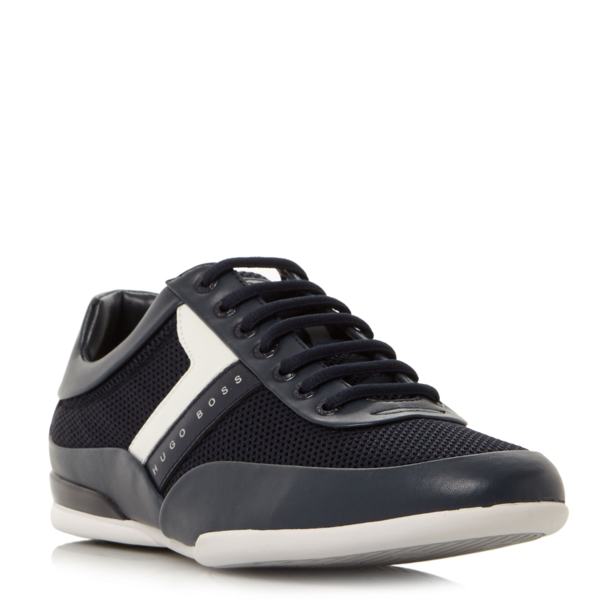 Hugo Boss Space low cambo printed trainers Navy