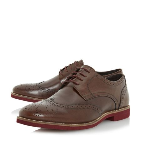 Linea Bedknobs colour pop sole brogue shoes