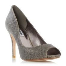 Dune Dinaa peep toe high heel court shoes