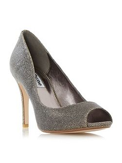 Dinaa peep toe high heel court shoes