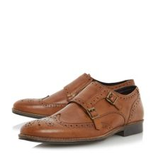 Linea Road smart wingtip double monk shoes