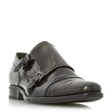 Bertie Reggi Double Toecap Monk Shoes
