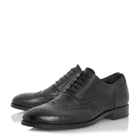 Bertie Regulate natural sole brogue shoes