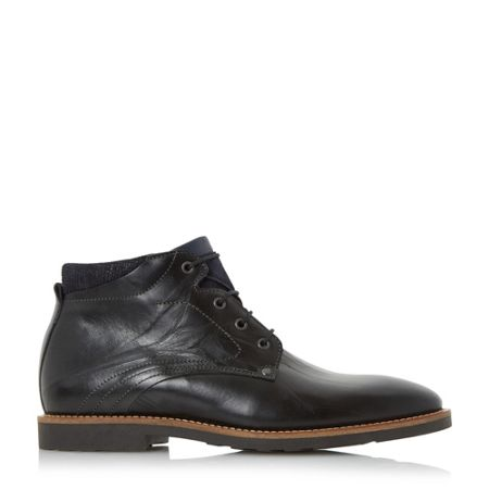 Bertie Chord contrast collar lace boots