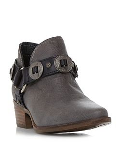 Aces belt and hardware ankle boots