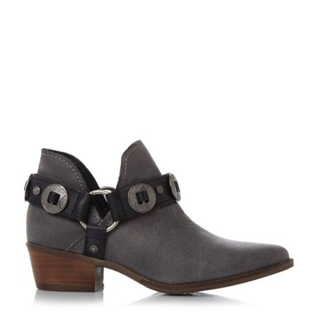 Steve Madden Aces belt and hardware ankle boots