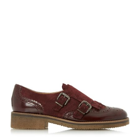 Dune Garland crepe sole monk shoes