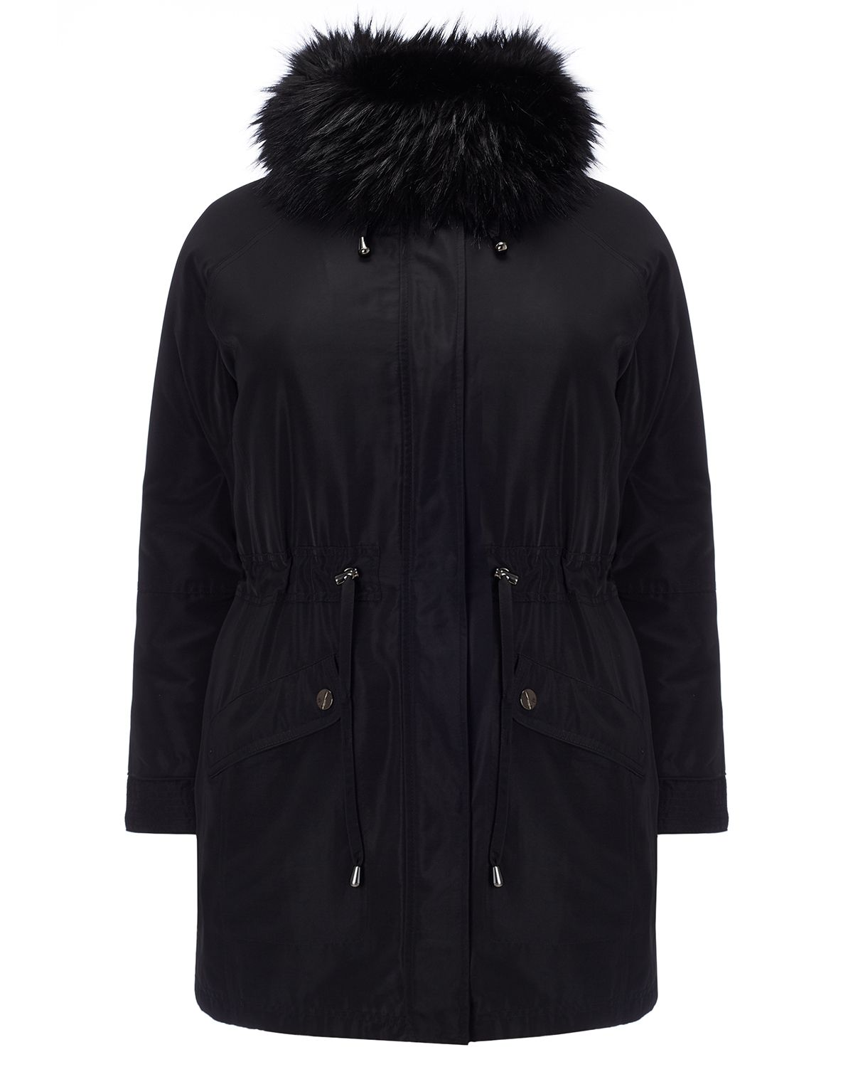 Studio 8 Plus Size Faith parka coat, Black