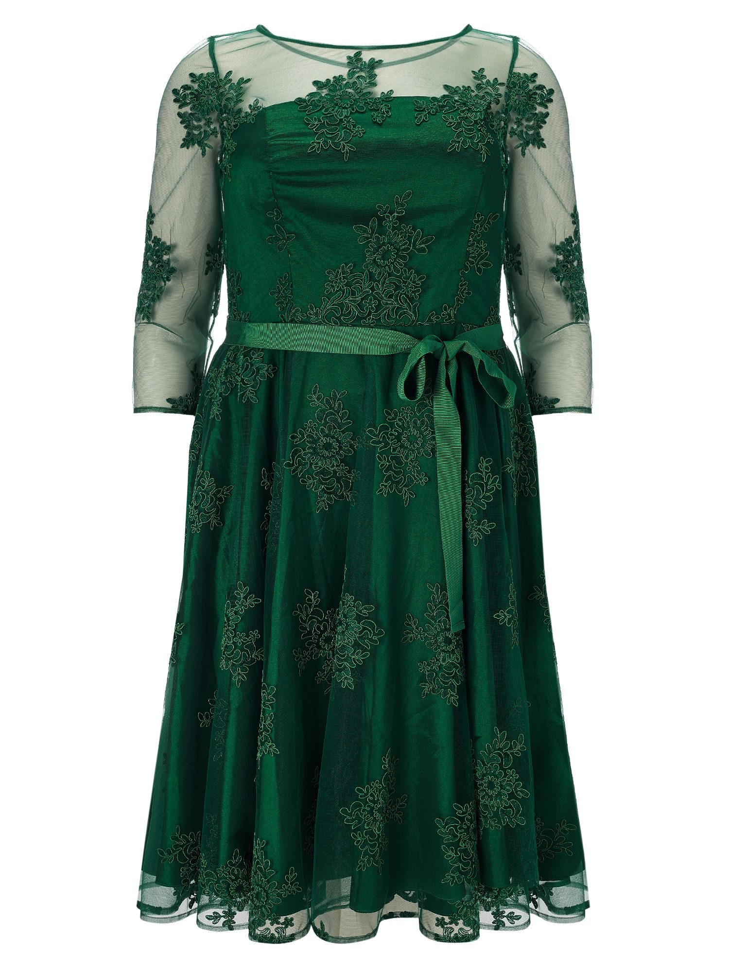 Studio 8 Yvette lace dress, Green