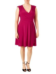 Plus Size Pearl wrap dress