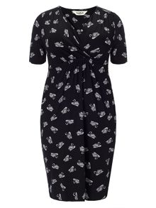 Studio 8 Plus Size Esme swan wrap dress