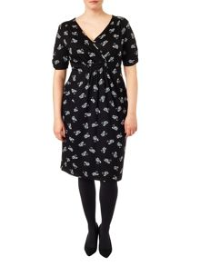 Plus Size Esme swan wrap dress
